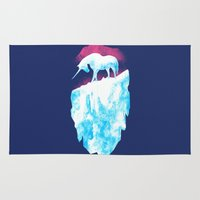 the last unicorn Area & Throw Rugs featuring =The Last Unicorn= by Catherine Jose