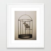 cage Framed Art Prints featuring Cage by Mikhaela Davis