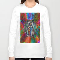 hippy Long Sleeve T-shirts featuring Hippy Girl by AuntyReni's Creations