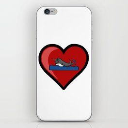 Baby Narwhal Love iPhone Skin