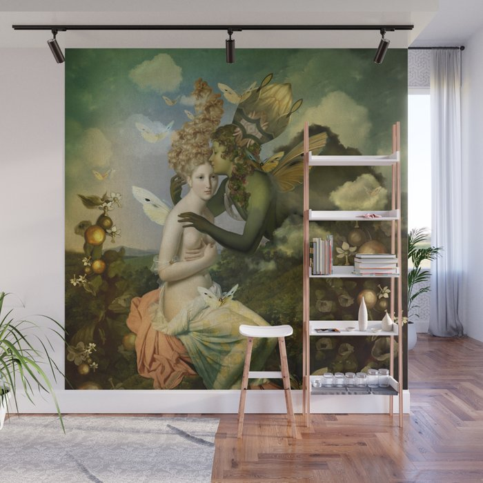 """""""The body, the soul and the garden of love"""" Wall Mural"""