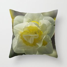 Daffodil sunshine Throw Pillow
