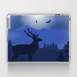 Mystical Night in the Mountains Laptop & iPad Skin