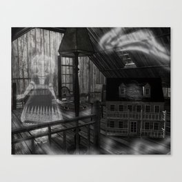 Toys in the Attic Haunted Canvas Print