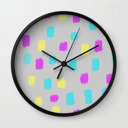 pansexual dots Wall Clock