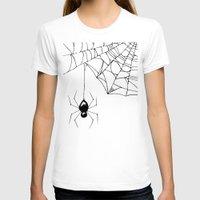 spider T-shirts featuring Spider by Chrystal Elizabeth