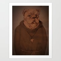 religious Art Prints featuring religious dog by soniu peng
