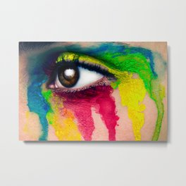 Rainbow Tears Metal Print