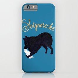 Shipwrecke (Blue and Beige) iPhone Case
