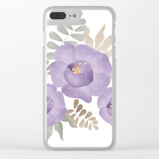 Light lilac roses. Clear iPhone Case