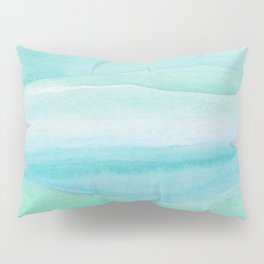 Ocean Layers - Blue Green Watercolor Pillow Sham