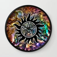 supernatural Wall Clocks featuring Supernatural by Spooky Dooky