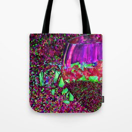 Abstract Wine Glass in Pinks Tote Bag