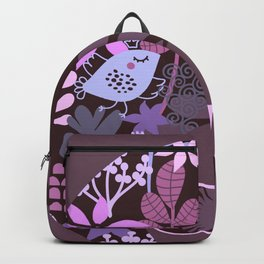 Afro Diva Lavender Purple-Taupe Backpack