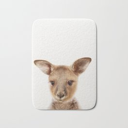 Baby Kangaroo, Baby Animals Art Print By Synplus Bath Mat