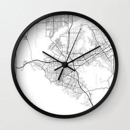 Minimal City Maps - Map Of Corona, California, United States Wall Clock