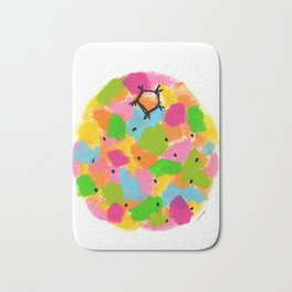 Be Colorful and Unique! - fruit pop art colorful kitchen modern nursery painting Bath Mat