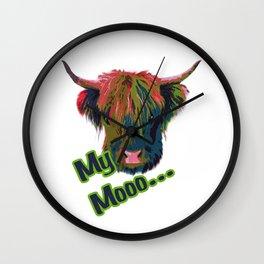 Cow Moo Wall Clock