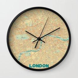 London Map Retro Wall Clock