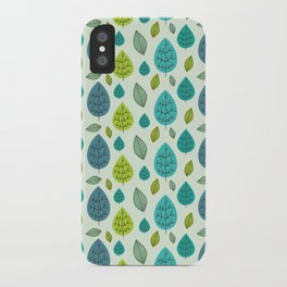 Trees pattern iPhone Case