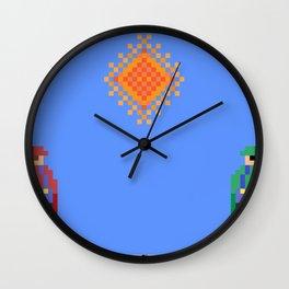 Mario vs Luigi Wall Clock