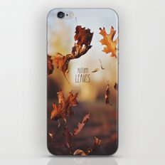 Autumn leaves as quickly as it arrives. iPhone & iPod Skin