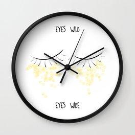 Glittered Eyes 2 Wall Clock