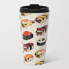 Sushi Pug Metal Travel Mug