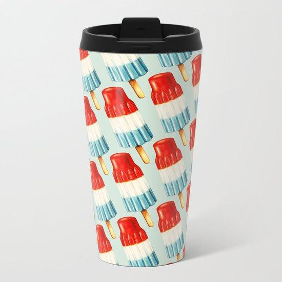 Bomb Pop Pattern Metal Travel Mug