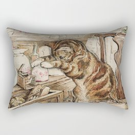 Tom Kitten looking for mice Rectangular Pillow