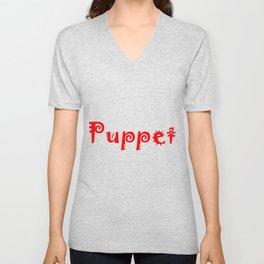 Puppet Red Unisex V-Neck