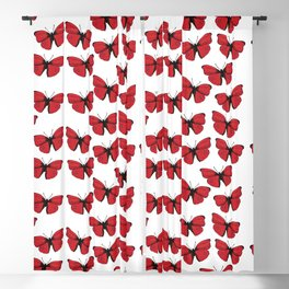 Red butterfly Spring Art Blackout Curtain