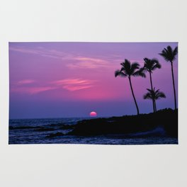 Hawaiian Sunset Over the Pacific Ocean Rug