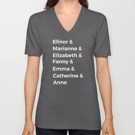 Jane Austen's Heroines I Unisex V-Neck
