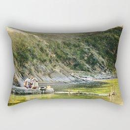 Local Bolivian Women on Isla Del Sol on Lake Titicaca, Bolivia Rectangular Pillow