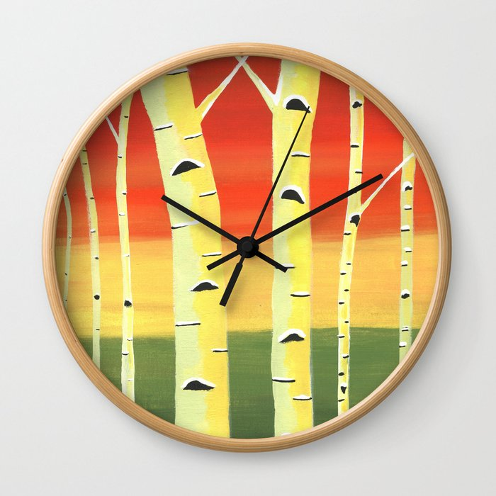 Birch Woods Wall Clock