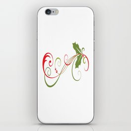 Festive Holly iPhone Skin