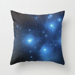 Taurus Constellation, Pleiades star cluster Throw Pillow