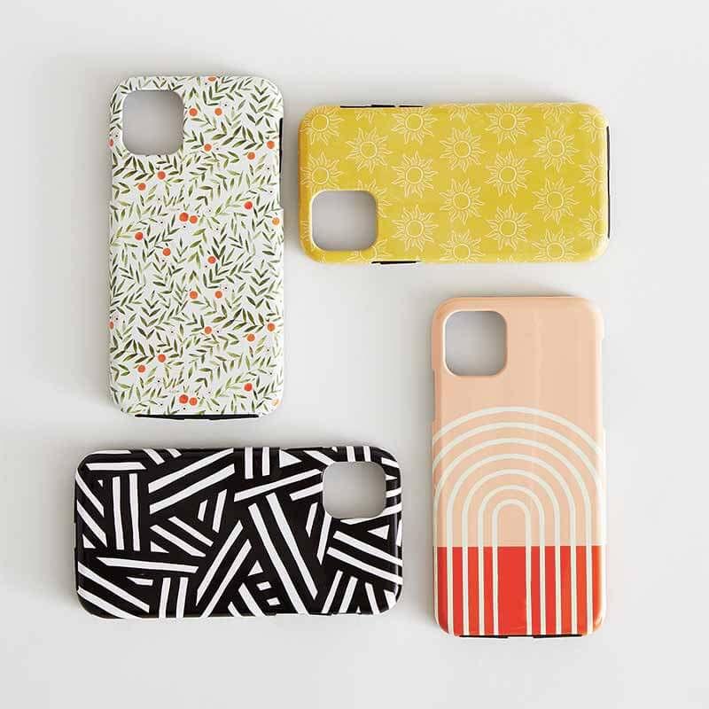4 iPhone cases in minimalist designs