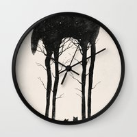tree Wall Clocks featuring Standing Tall by Dan Burgess