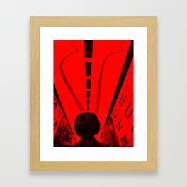 Inverted Ride Framed Art Print