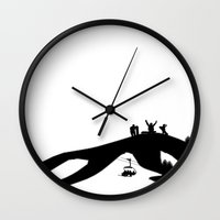 snowboard Wall Clocks featuring Snowboard by A&N2218