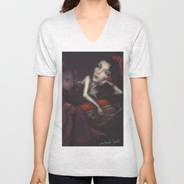Christy and the butterflies  Unisex V-Neck