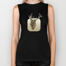 Elk Portrait - In the Roar Biker Tank