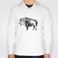bison Hoodies featuring Bison by Jade Antoine