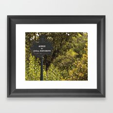 Paris Avenue Framed Art Print
