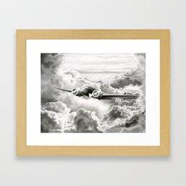 Ghost Flight- Amelia Earhart  Framed Art Print