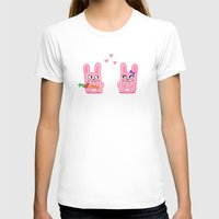 bunnies T-shirts featuring Oh, bunnies!.. by Trapezoid