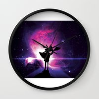 universe Wall Clocks featuring Universe by Lunzury