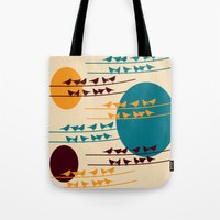 birdy Tote Bags featuring birdy by BruxaMagica_susycosta